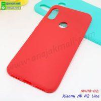 M4118-02 เคสยางนิ่ม Xiaomi A2 Lite สีแดง