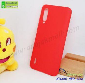 M5164-02 เคสยางนิ่ม Xiaomi Mi9 lite สีแดง