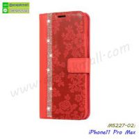 M5227-02 เคสฝาพับ iPhone11 pro Max สีแดง
