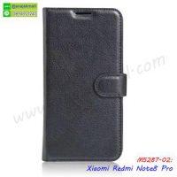 M5287-02 เคสหนังฝาพับ Xiaomi Redmi Note8 Pro สีดำ