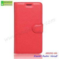M5292-06 เคสหนังฝาพับ Xiaomi Redmi Note8 สีแดง