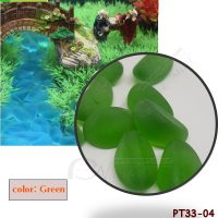 PT33-04 หินสีประดับตู้ปลาสีเขียว