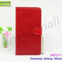 M5327-01 เคสฝาพับ Samsung Note10 สีแดงเข้ม