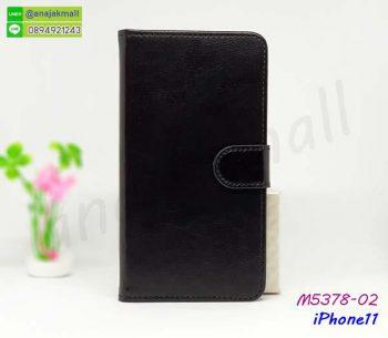 M5378-02 เคสหนังฝาพับ iPhone11 สีดำ