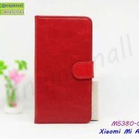 M5380-01 เคสฝาพับ Xiaomi Mi A3 สีแดง