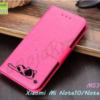M5387-06 เคสฝาพับ Xiaomi Mi Note10 ลายแมว สีชมพู