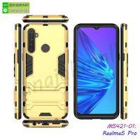 M5421-01 เคส Realme5 Pro กันกระแทก สีทอง
