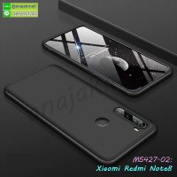 M5427-02 เคสประกบหัวท้ายไฮคลาส Xiaomi Redmi Note8 สีดำ