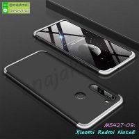 M5427-09 เคสประกบหัวท้ายไฮคลาส Xiaomi Redmi Note8 สีเงิน-ดำ
