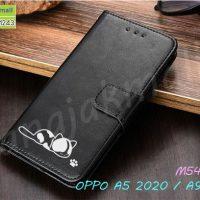 M5433-01 เคสฝาพับ OPPO A5 2020 / A9 2020 ลายแมว สีดำ