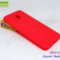 M5510-01 เคสยาง Xiaomi Redmi8a สีแดง