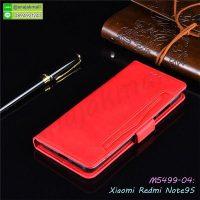 M5499-04 เคสฝาพับ Xiaomi Redmi Note9S / Note9 Pro สีแดง