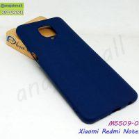 M5509-05 เคสยาง Xiaomi Redmi Note9S / Note9 Pro สีน้ำเงิน