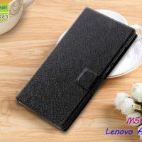 M5609-01 เคสฝาพับ Lenovo A6 Note สีดำ