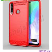 M5595-04 เคสยางกันกระแทก Huawei Y6P สีแดง