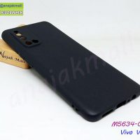 M5634-01 เคสยาง Vivo V19 สีดำ