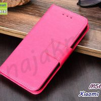 M5641-06 เคสฝาพับ Xiaomi Redmi9 สีชมพูเข้ม