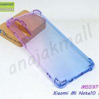 M5597-01 เคสยางกันกระแทก Xiaomi Mi Note10 Lite สีม่วง-น้ำเงิน