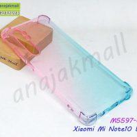 M5597-02 เคสยางกันกระแทก Xiaomi Mi Note10 Lite สีชมพู-เขียว
