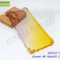 M5597-04 เคสยางกันกระแทก Xiaomi Mi Note10 Lite สีดำ-เหลือง