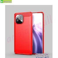 M5932-04 เคสยางกันกระแทก Xiaomi Mi11 สีแดง