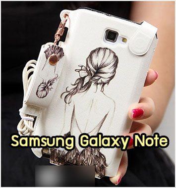 M1038-03 ซองหนัง Samsung Galaxy Note ลาย Women