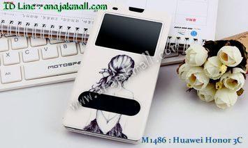 M1486-02 เคสโชว์เบอร์ Huawei Honor 3C ลาย Music