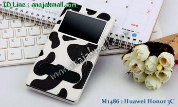 M1486-07 เคสโชว์เบอร์ Huawei Honor 3C ลาย Moo