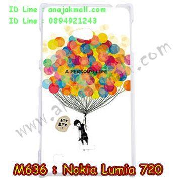 M636-12 เคสแข็ง Nokia Lumia 720 ลาย Balloon