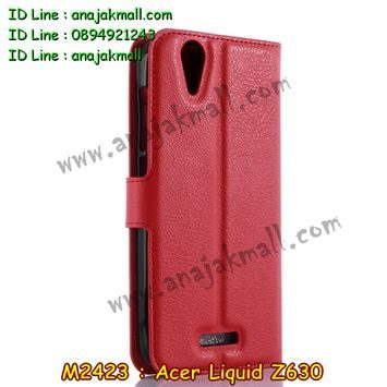 M2423-05 เคสฝาพับ Acer Liquid Z630 สีแดง