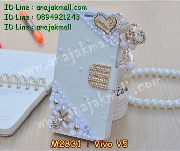 M2831-03 เคสฝาพับคริสตัล Vivo V5 ลาย Love III