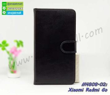 M4808-02 เคสฝาพับไดอารี่ Xiaomi Redmi Go สีดำ